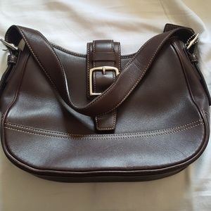 Coach shoulder bag - soft chocolate brown